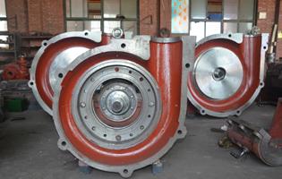 渣浆泵泵头的装配